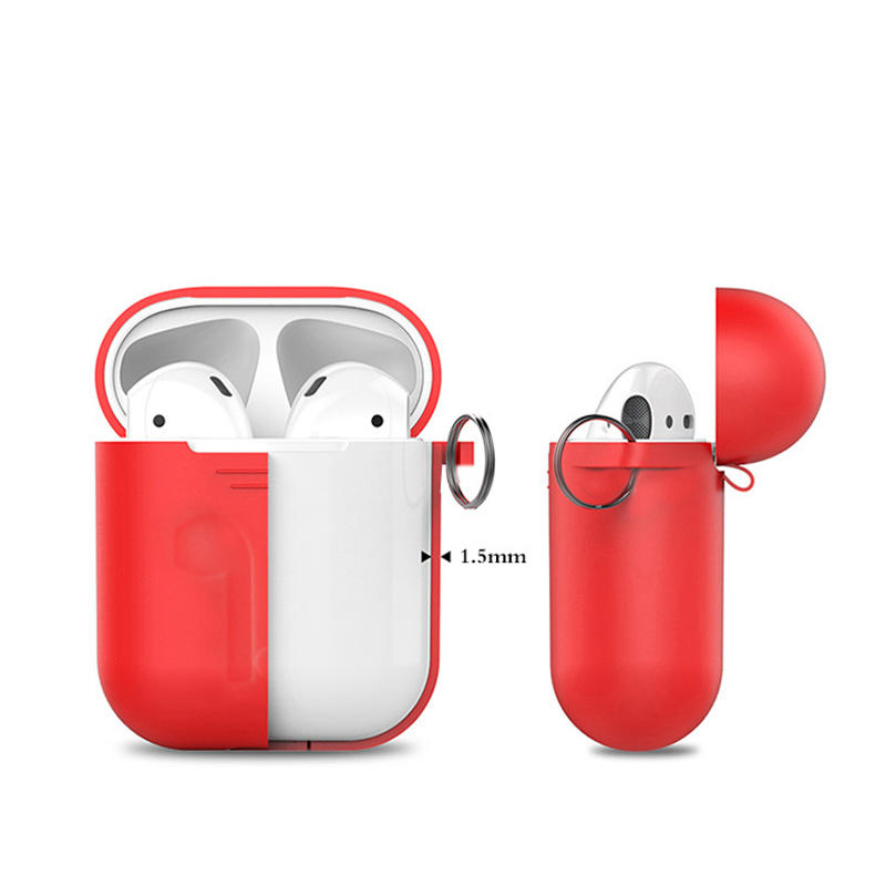 carabiner airpods case charging with button hole hollow for mobile phone