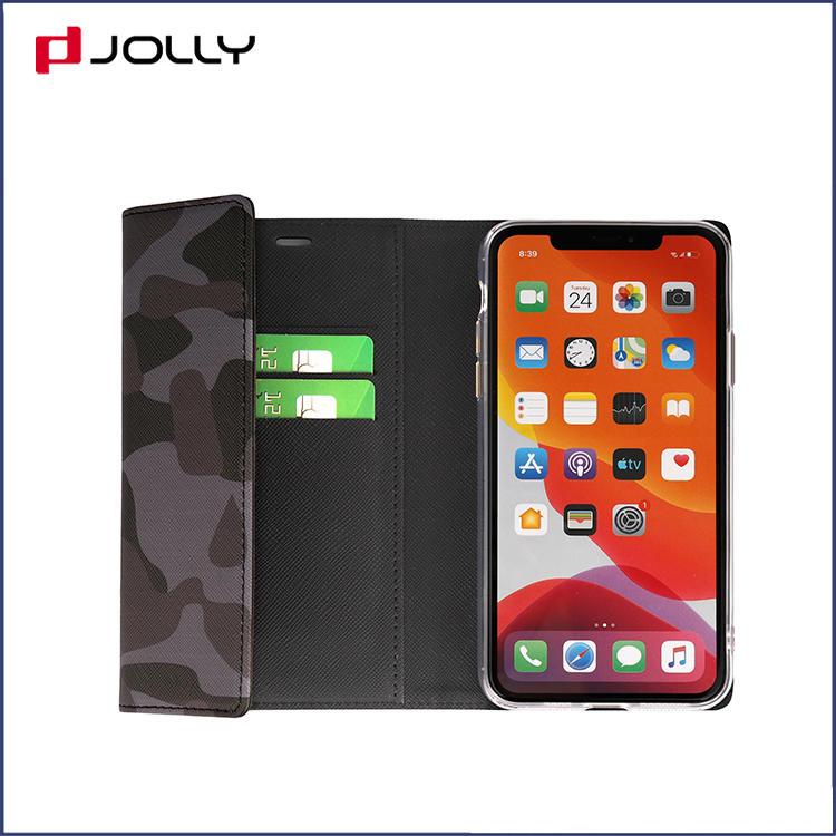 iPhone 11 Pro Phone Case, Saffiano Camo Leather Crossbody Clutch Mobile Phone Case DJS1641