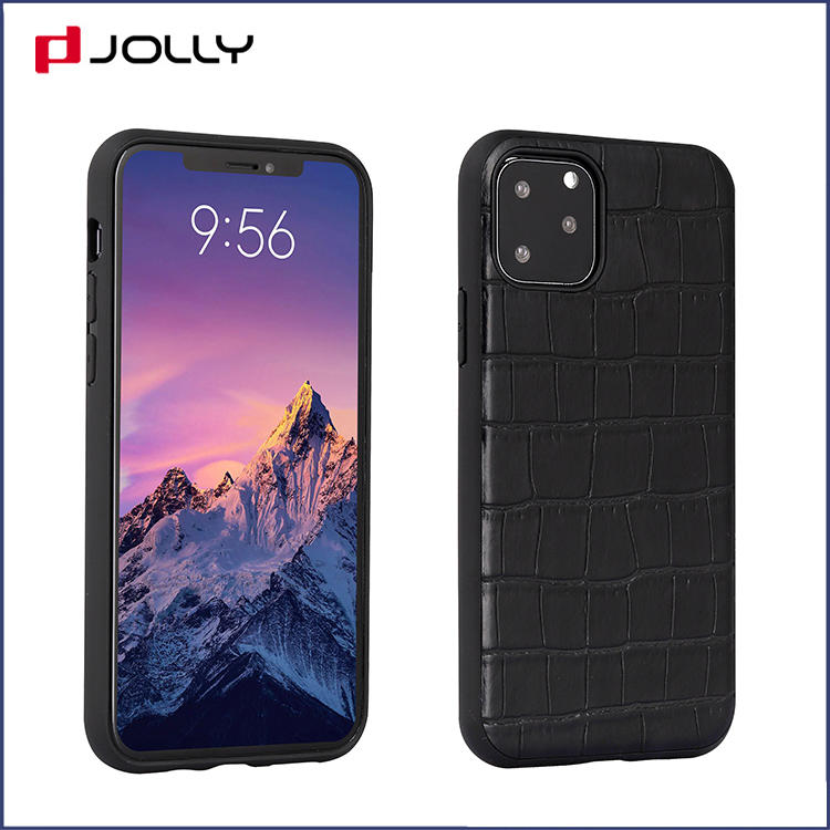 Coro Leather Monbile Phone Cover for iPhone 11 Pro, Stylish Design Letaher Phone Case DJS1624