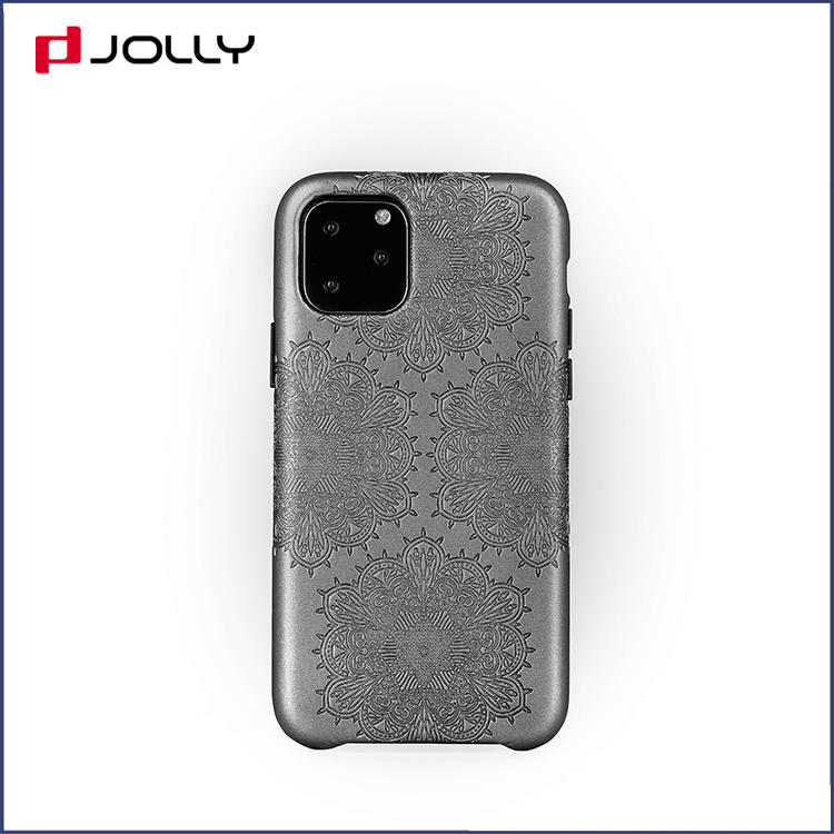 Anti-Drop Leather Phone Case for iPhone 11 Pro, Feeling Element Design Mobile Phone Cover DJS1661