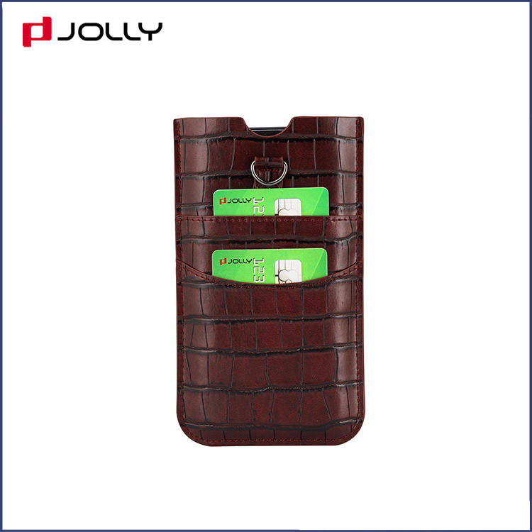 Universal Design Mobile Phone Bag for  iPhone 11 Pro, Croco Leather Phone Pounch DJS1628