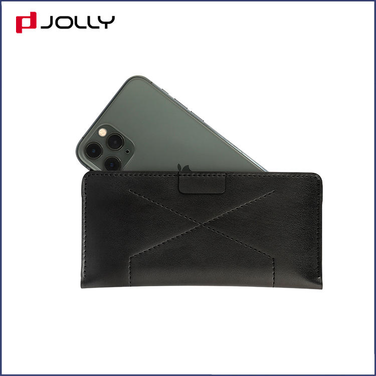 Clssic Design 6.5 Inches Universal Leather Mobile Phone Case with Back Side Card Slot DJS1653