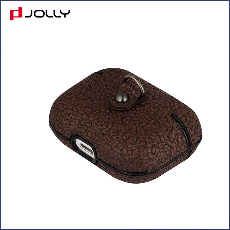 Custom Design Glitter PU Leather Protective Case Cover with Charging for Airpods Pro DJS1689-7A