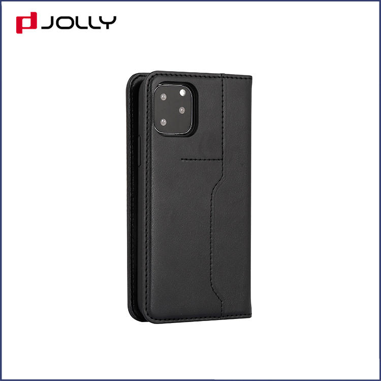 Classic Design PU Leather Case for Apple iPhone 11 Pro, Flip Phone Case with Back-side Card Slot DJS1652