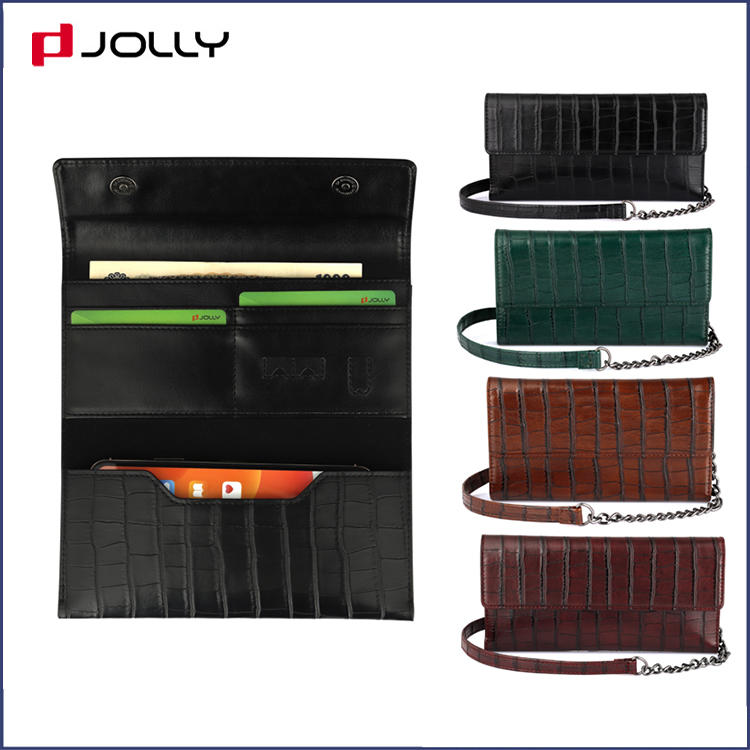 Universal Design Croco Leather Phone Clutch,Crossbody Mobile Phone Case with Built-in Card Slot DJS1630
