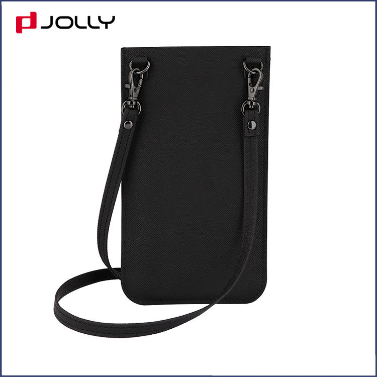 Universal Design Mobile Phone Bag With Back-Side Card Slot, Necklace Camo Saffiano Leather Phone Pounch DJS1638