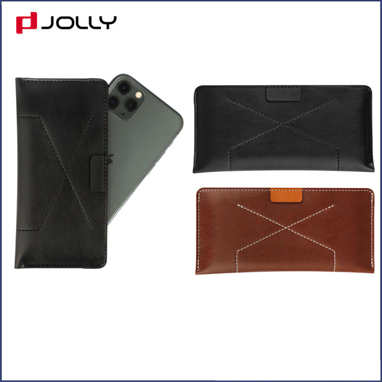 Clssic Design 5.8 Inches Mobile Phone Bag, Universal Leather Mobile Phone Case with Back Side Card Slot DJS1673