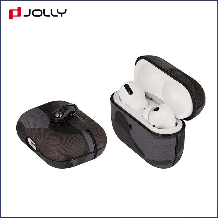 Custom Camo Saffiano Leather Protective Case for Apple Airpods Pro DJS1640
