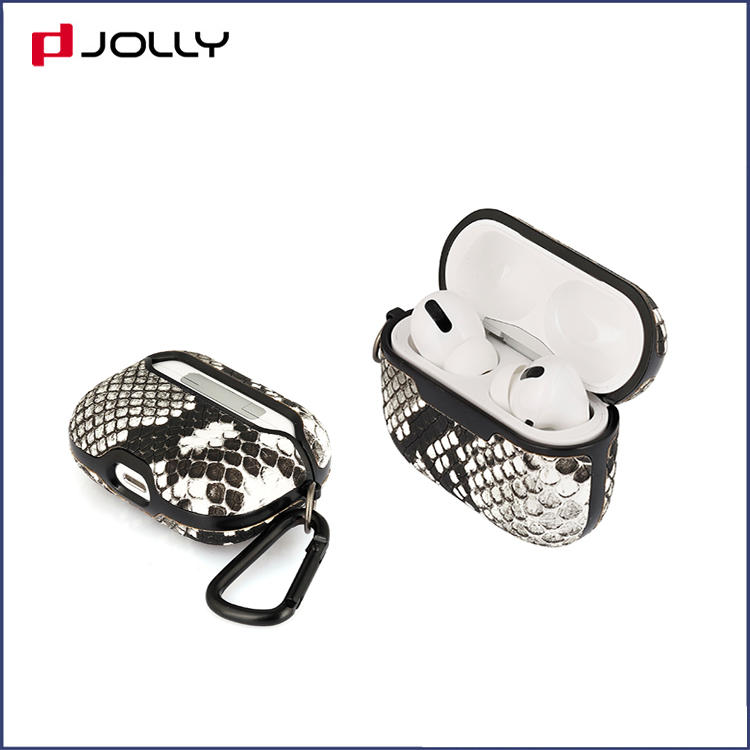 Unique Design With Charging Croco Leather Case Cover  for Apple Airpods Pro DJS1627-1