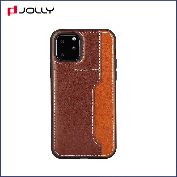 iPhone 11 Pro Mobile Back Cover, Classic Design TPU with Back-side Card Slot Protection Case DJS1651