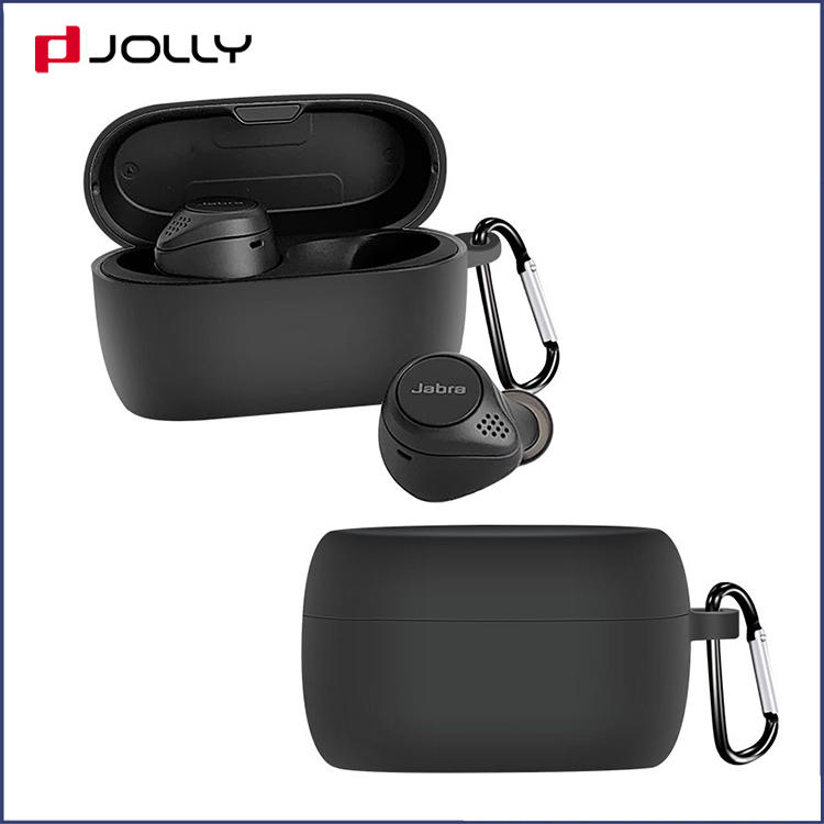 Wireless Charging Silicone Custom Bluetooth Earphone Case Cover For Jabra Elite75T