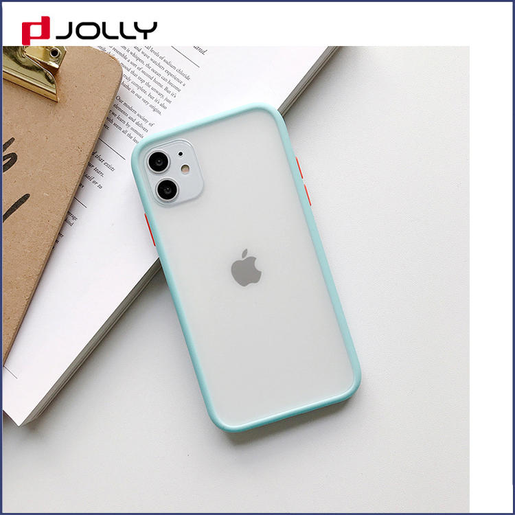 Unique Design Soft TPU+PC Mobile Phone Cover for iPhone with Color Bottom