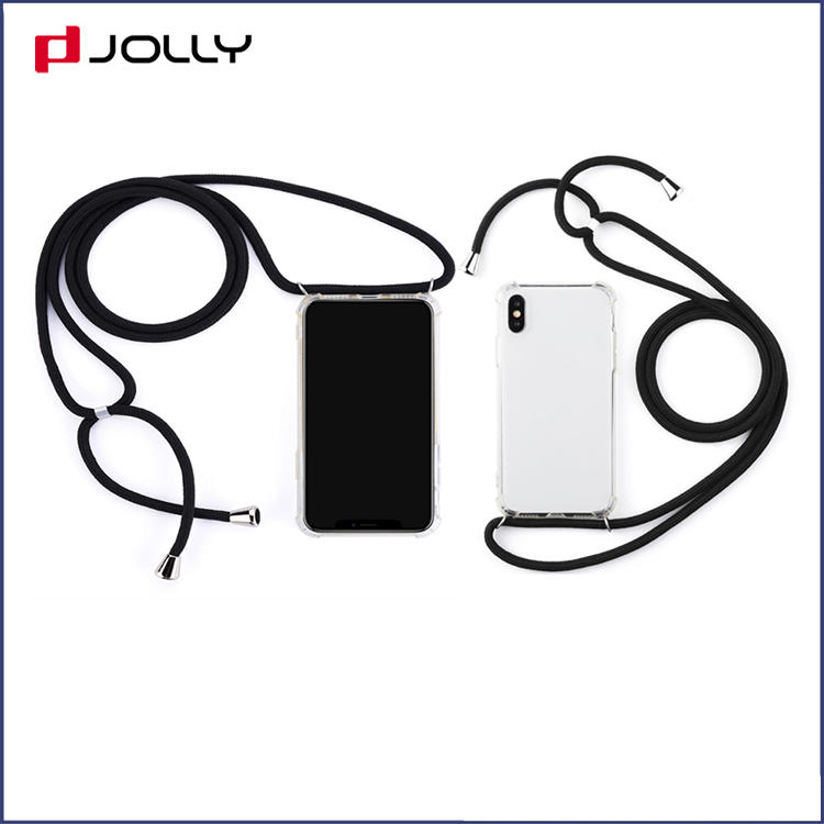 Stylish Design Crossbody Soft TPU Mobile Phone Cover with Nylog Rope for iPhone in Summer
