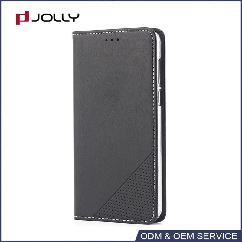 Premium leather flip phone case with card slots