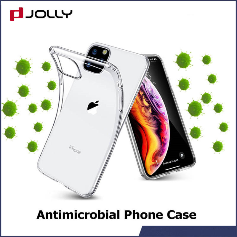 iPhone 12 Phone Cover, Antimicrobial Crystal TPU Phone Case
