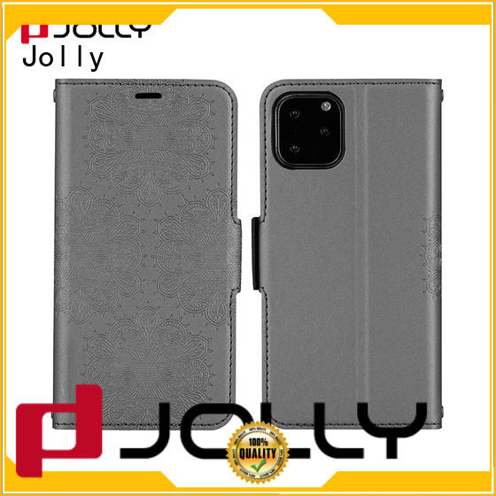 Jolly custom magnetic flip phone case with id and credit pockets for sale