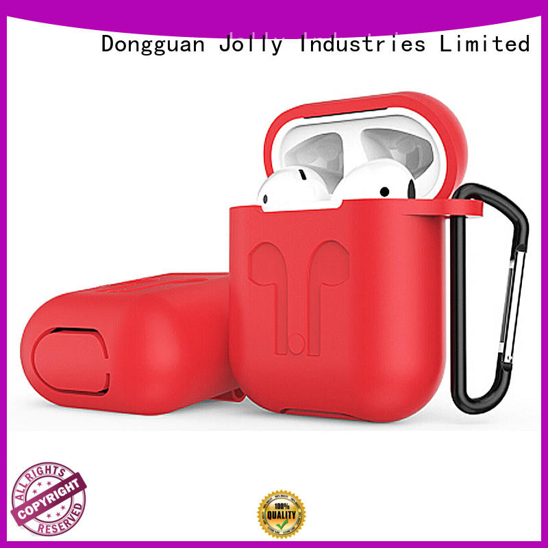 Jolly antilost Airpods Case with button hole hollow for mobile phone
