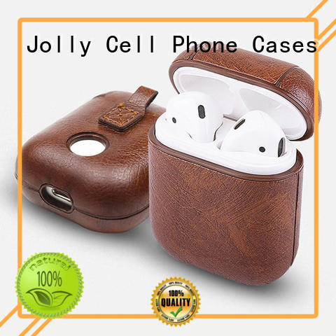 Jolly Airpods Case with button hole hollow for apple airpods