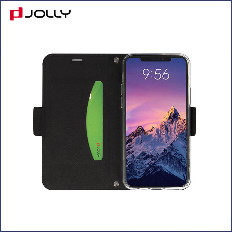 Jolly magnetic flip phone case with slot kickstand for iphone xs-2