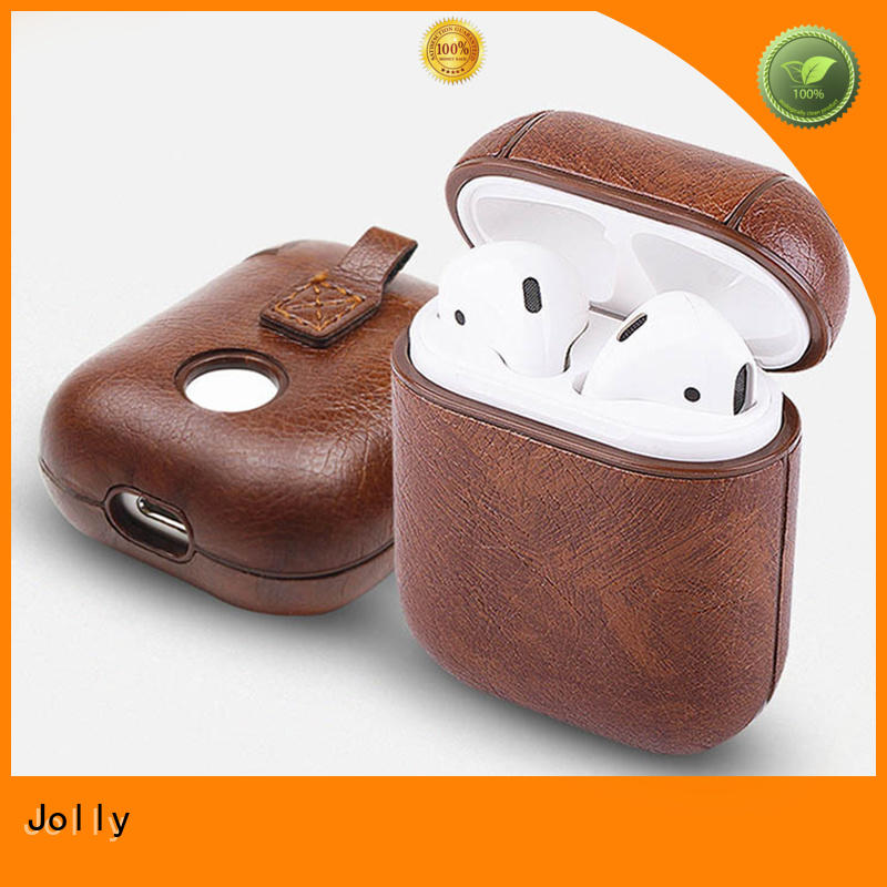 Jolly antilost Airpods Case with button hole hollow for apple airpods